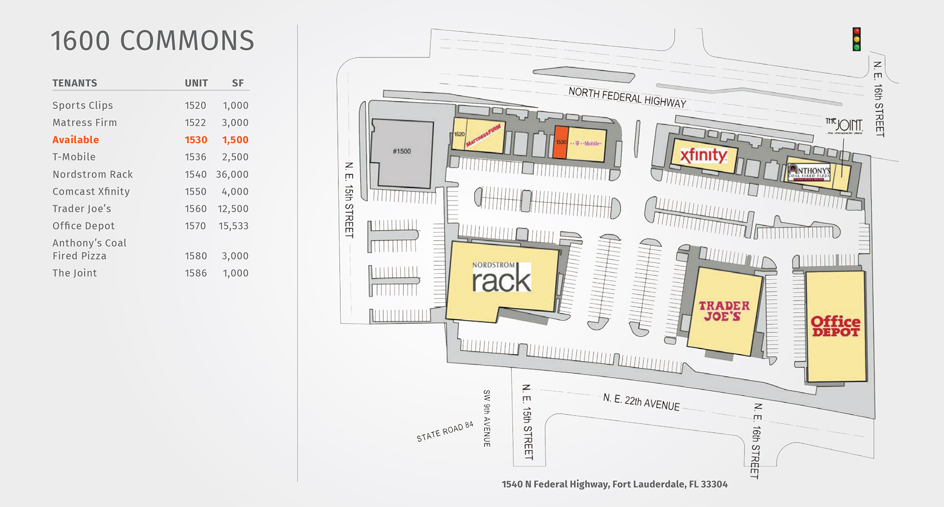 1600 Commons site map