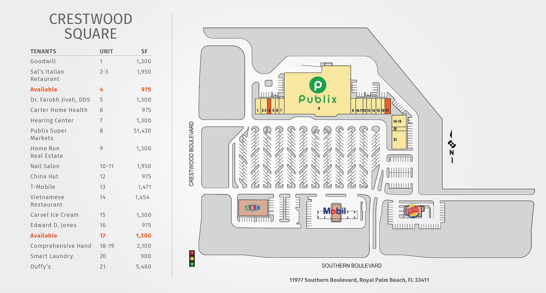 Crestwood Square site plan