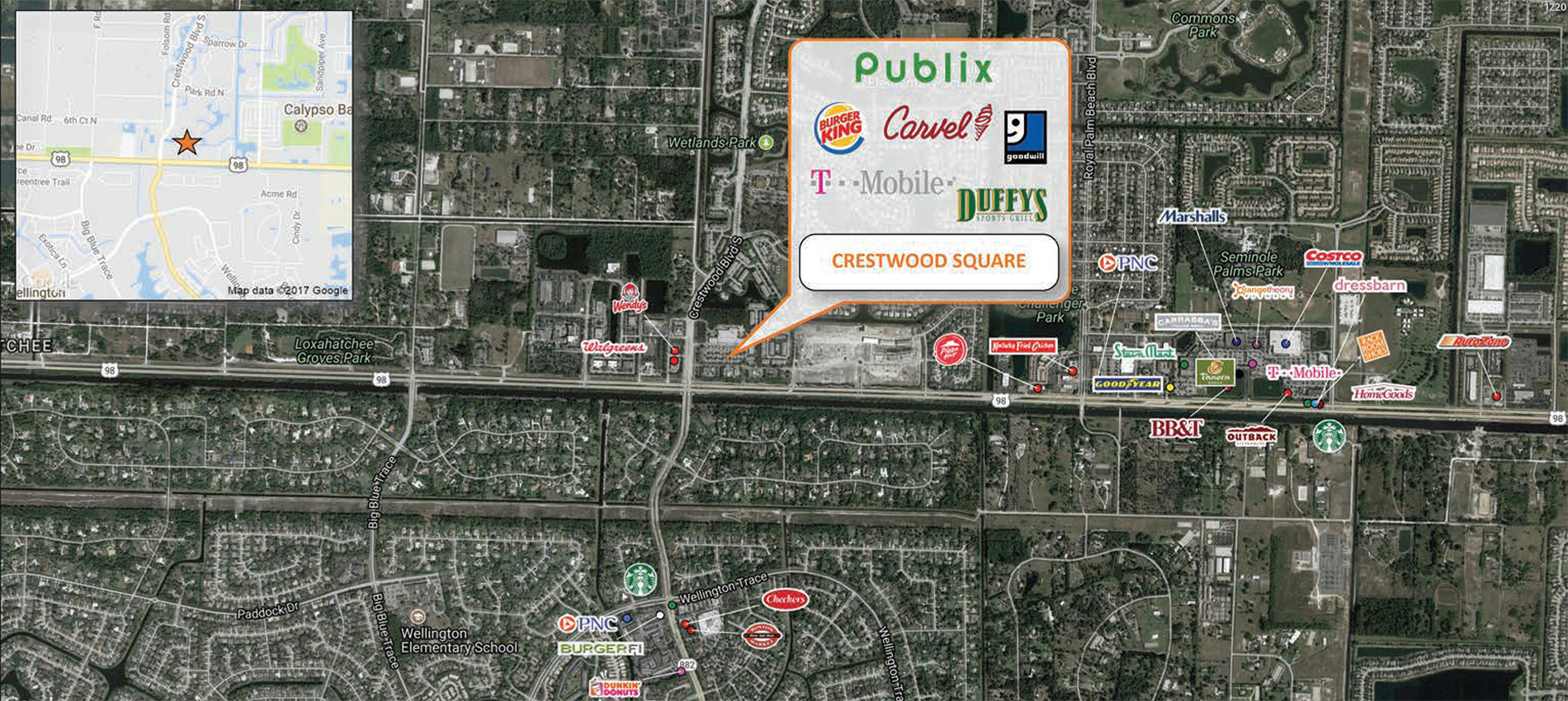 Crestwood Square trade area map