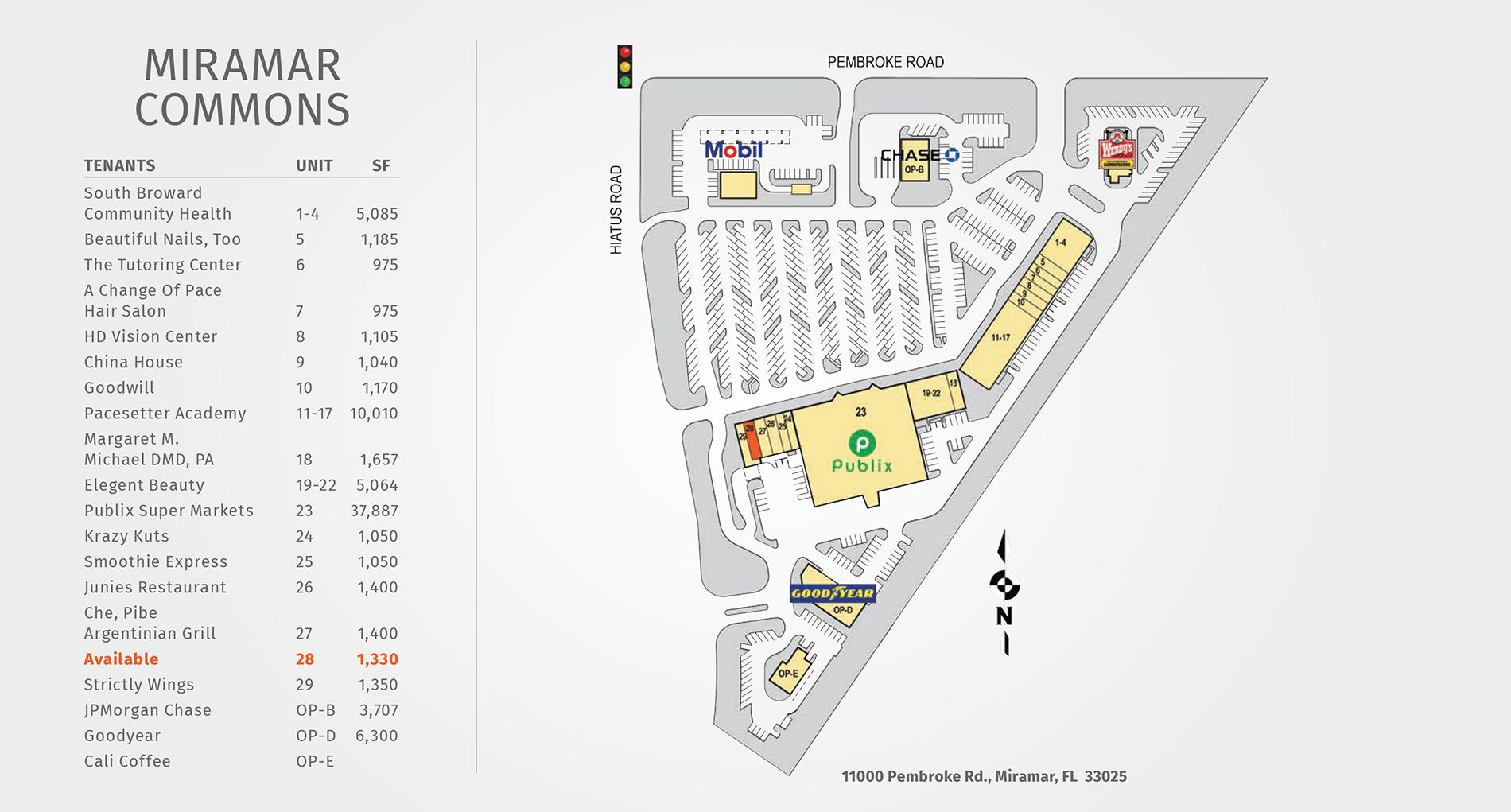 Miramar Commons site plan
