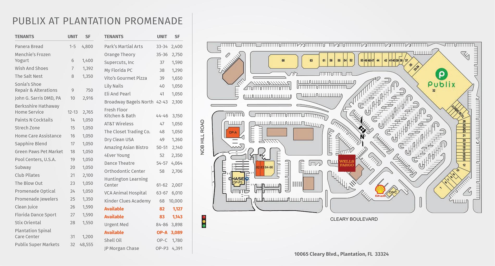 Plantation Promenade site plan