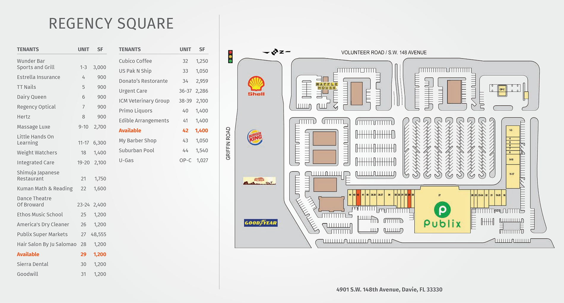 Regency Square site plan