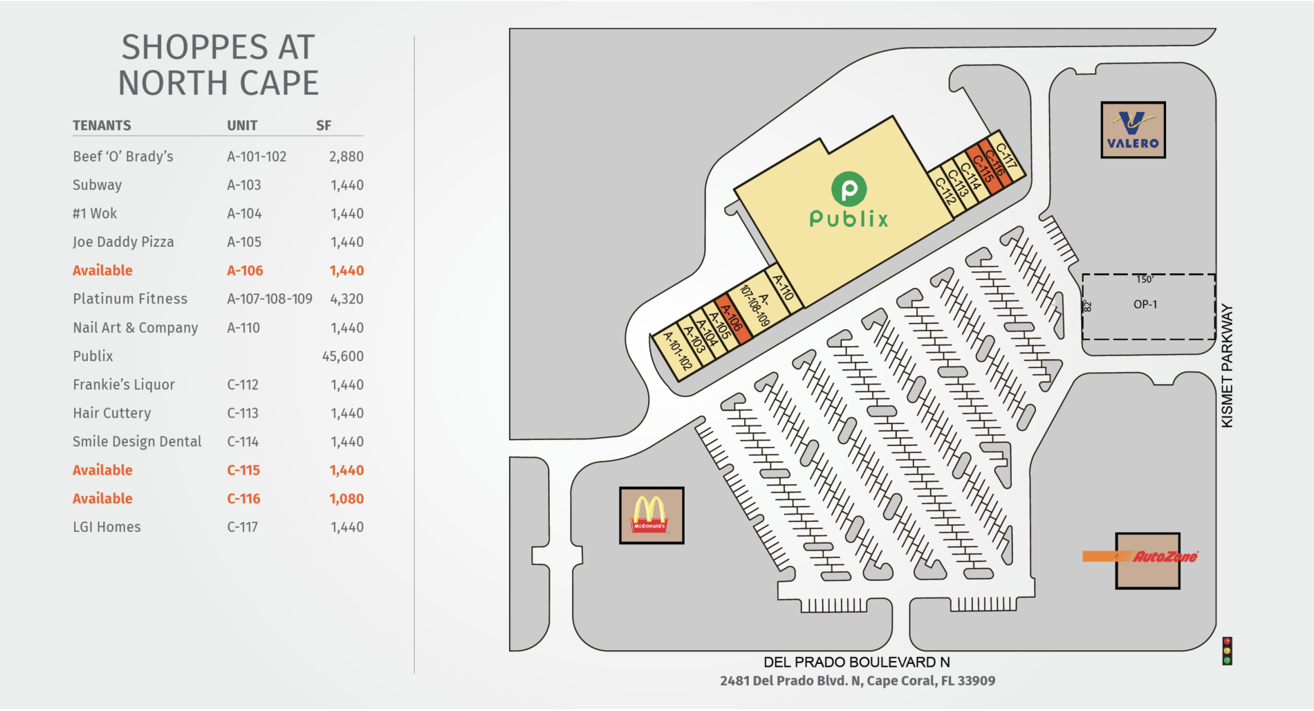 Shoppes at North Cape Site Plan