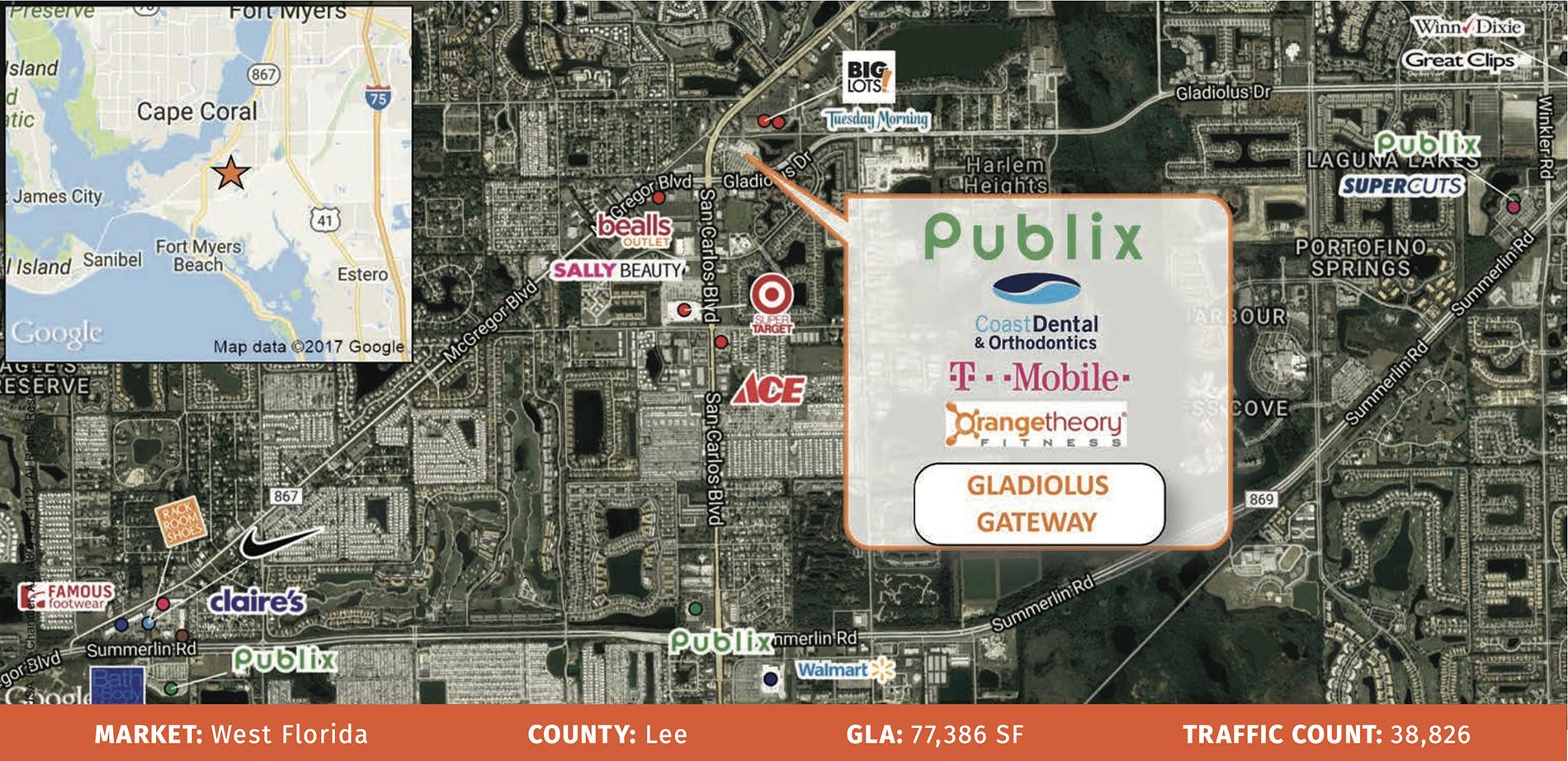 Gladiolus Area Map
