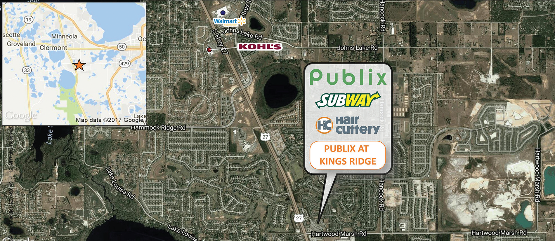 Publix At Kings Ridge Trade Map