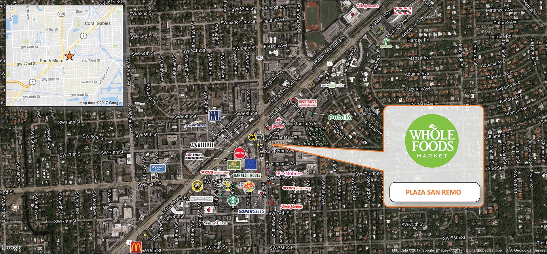 Plaza San Remo Trade Map