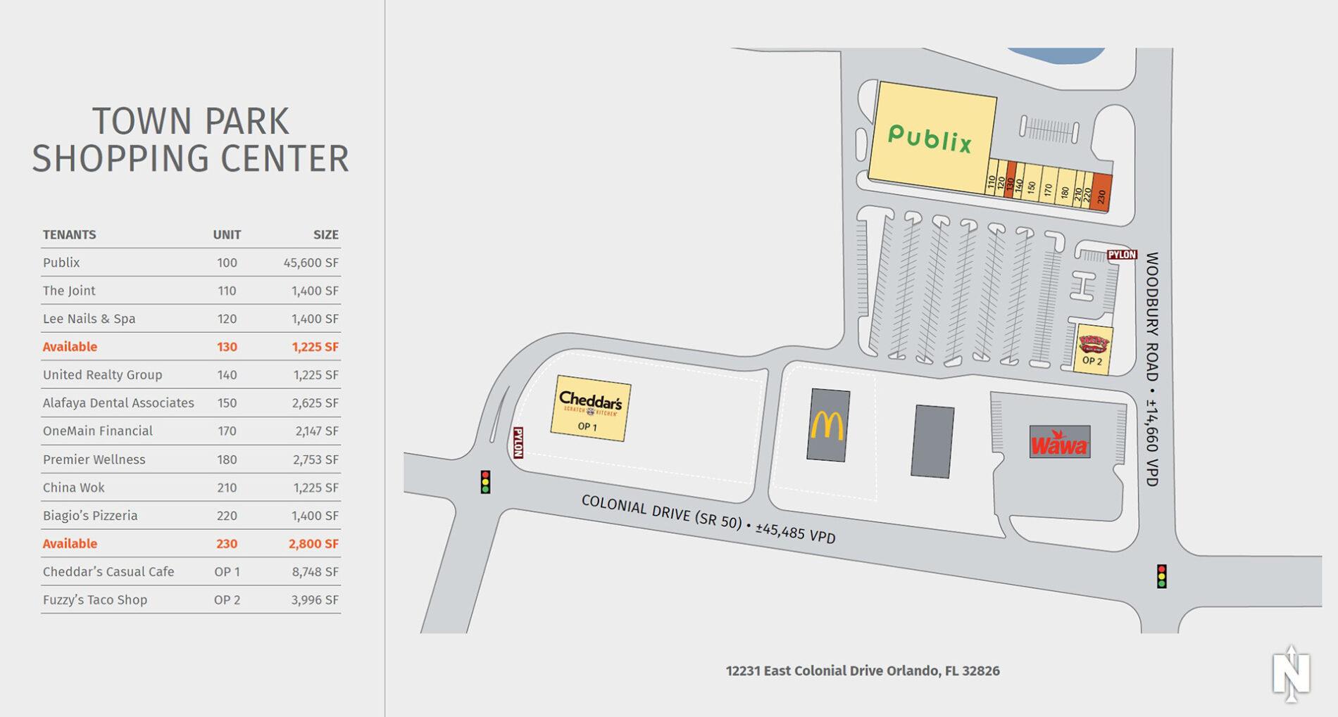 Town Park Shopping Center Site Plan