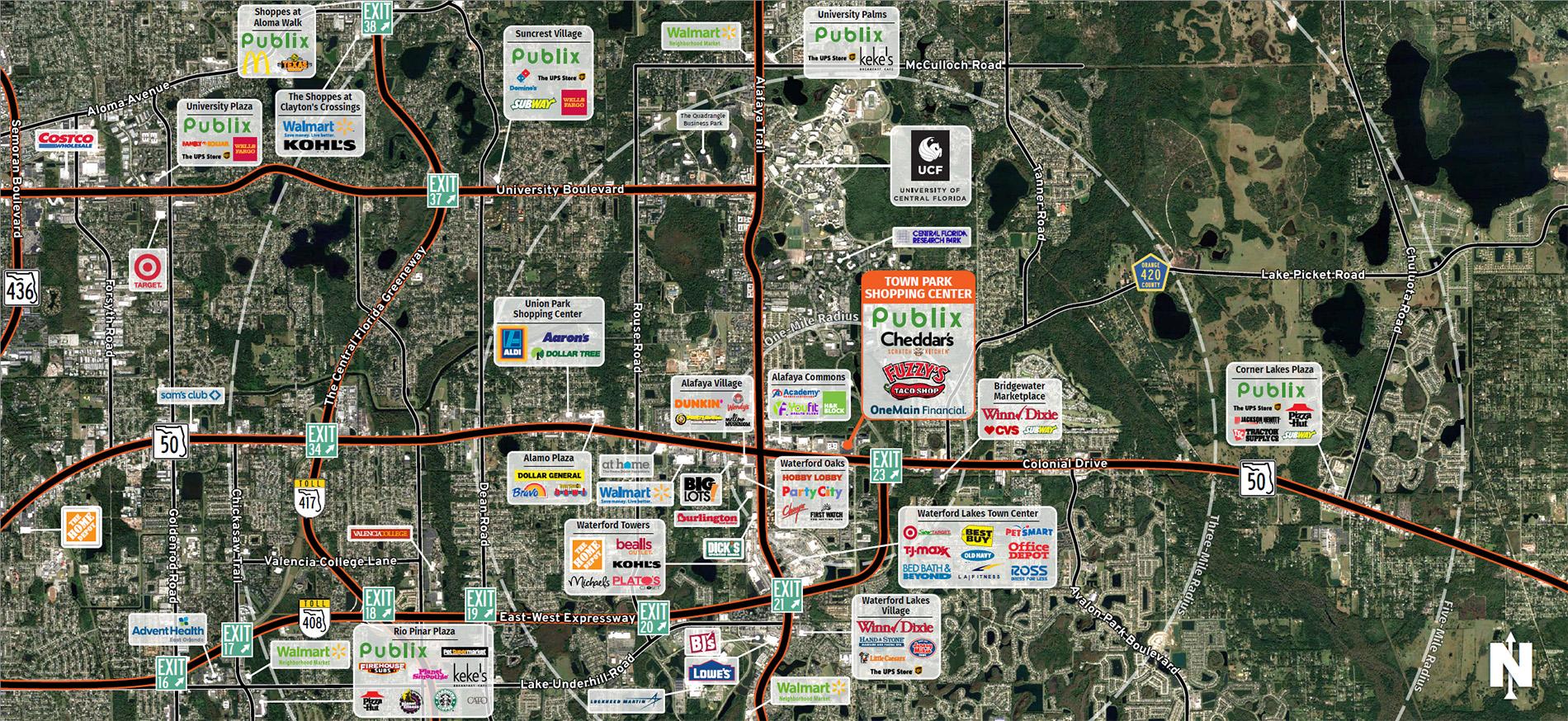 Town Park Shopping Center Trade Area Map